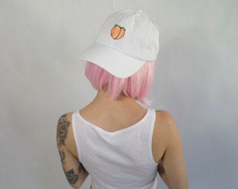 Peach Emoji Inspired Baseball Hat