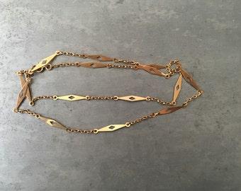 Vintage Estate find 14 kt gold fancy station necklace