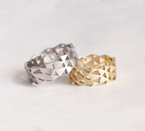 Wedding Ring Wedding Bands Modern Wedding Ring Wide Wedding