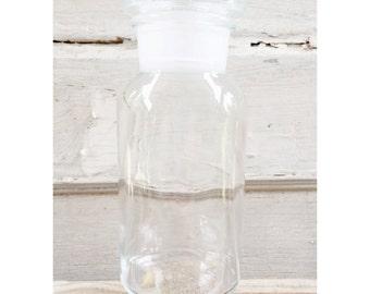 WWII Apothecary Glass Jar