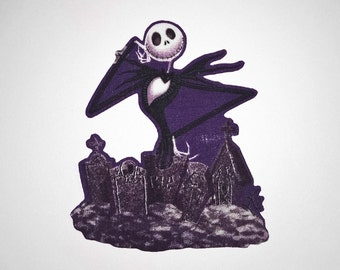 Nightmare Before Christmas: Jack Skellington Iron-On Patch - Limited Stock