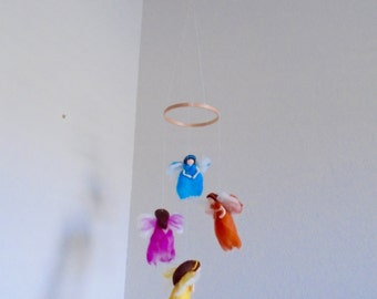 Fairy Mobile // Nursery Mobile // Baby Mobile // Waldorf Mobile // Whimsical Mobile