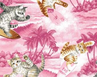 Riley Blake Surfin' cats fabric