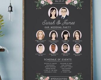 Wedding Program Sign - Chalkboard Program Sign - Rustic Program Sign - Wedding Program
