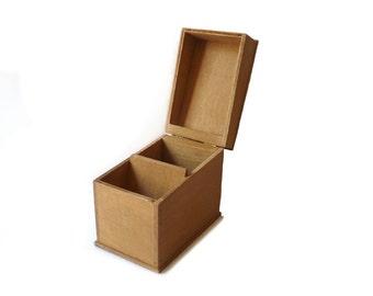 Wooden Box Vintage File Box Desk Organizer Desk Decor Storage Box 1950s