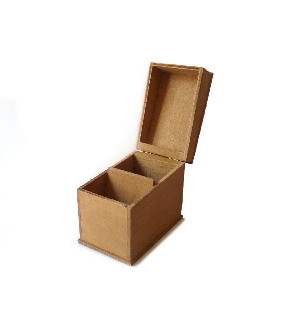 Wooden box vintage file box desk organizer desk decor storage - Decorative desk organizers ...