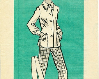"Vintage Women's Jacket and Pants Pattern Anne Adams Mail Order 4824 Bust 31-1/2"" Misses' Sz 8"