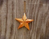 Upcycled Can Star Ornament -  Monster Ultra Sunrise Energy