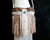 Gypsy Fringe Bag - Boho Cowgirl Chic Gypsy Bag - Free Spirit Bag -Cowgirl Gypsy Bag - Romantic Faux Leather and Lace Bag
