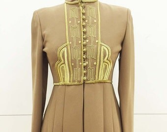 Vintage Military Tunic with Gold Trim