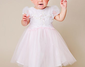 Ivy Baby Girl Spring Dress Tulle Dress Organza Dress Lavender Tulle White Tulle Pink Tulle
