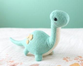 PDF Pattern - Felt Brontosaurus Dinosaur Plush