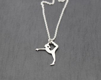 Sterling Silver Stretch Pendant, for any gymnastics, dance, yoga enthusiast