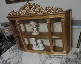 Suroco Figurine Display Gold Shelf