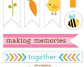 Bella Blvd Simply Spring Trinkets, Spring-Themed Scrapbook Stickers/Embellishments