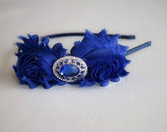 Royal Blue Headband - Sapphire Headband - Vintage Style Headband - Hair Accessories - Hair Jewelry - Sapphire Blue Headband - Victorian
