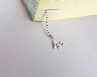 Book Thong, Beaded Book Thong, Back to School, School Supply, Unique Book Thong, Bookmark, Beaded Bookmark, Unique Bookmark