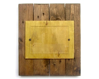 Photo Frame 5x7, Reclaimed Pallet Wood, Rustic Wooden Picture Frames