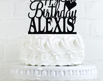 Happy 15th Birthday Cake Topper Personalized with Name and Age