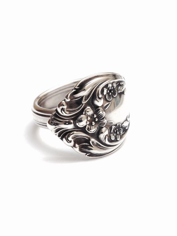 sterling silver spoon ring circa 1940 handmade spoon ring