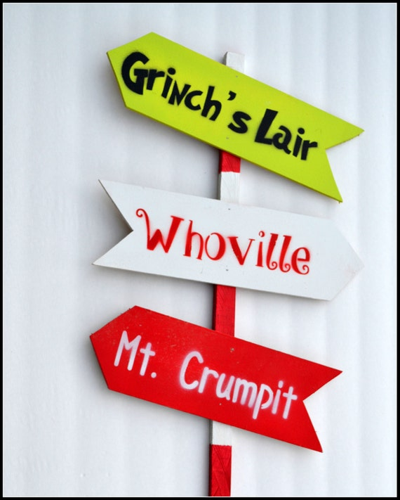 The Grinch Who Stole Christmas Garden Sign