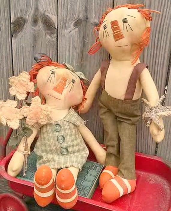 Primitive Rag Dolls-Annie Andy Dolls-Raggedy Dolls