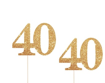 40th Birthday Cupcake Toppers, 40 Cupcake Toppers, 40th Cupcake Toppers