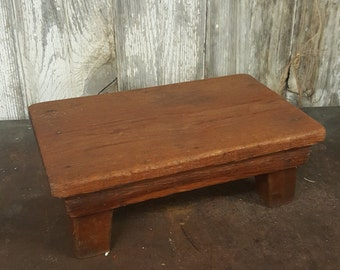 Primitive Step Stool Tiny Vintage Wooden Stool Kids Step Stool