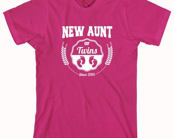 New Aunt of Twins Since 2015 Shirt - family, twins, christmas gift idea - ID: 539