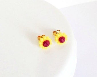 Little Sunflower Stud Earrings