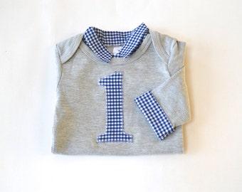 First Birthday Boy Outfit - First Birthday Boy Shirt - Baby Boy First Birthday Outfit - First Birthday Baby Boy Onesie