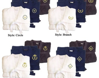 Monogrammed Plush Terry Robes