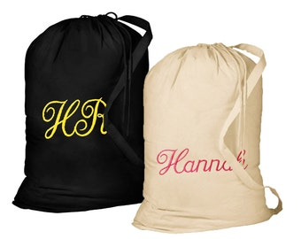 Large Personalized Laundry Bag with Shoulder Strap