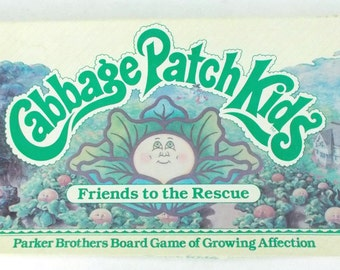 1984 Parker Brothers Cabbage Patch Kids Friends to the Rescue Vintage Board Game Complete