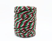 Chunky Christmas Baker's Twine / 20m Extra Thick Red, Green & White Twine