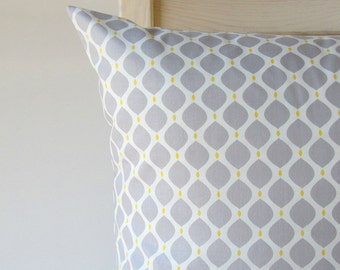 Cushion cover pillow pillow case cushion case 16x16/20x20 inch grey  yellow