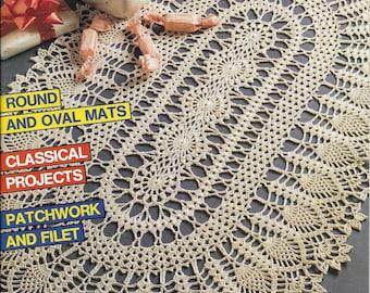 Vintage Decorative Crochet Magazine Back Issue January 1989 Number 7 Crochet Doily Patterns