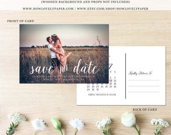 Printable Save the Date Postcard - the Emily Collection - Save the Date Post Card - Save Our Date Postcard - Save Our Date - Save the Date