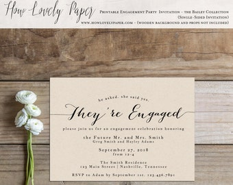 Printable Engagement Party Invitation - the Bailey Collection