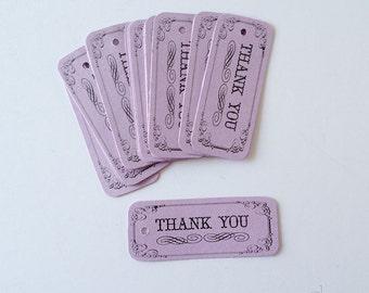 Thank You Tags, Purple Wedding Favor Tag, Bridal Shower Favor, Gift Tags, Thank you Favor Tags, Small Tags