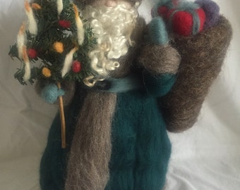 Ready to ship -Victorian Father Christmas santa claus needle felted