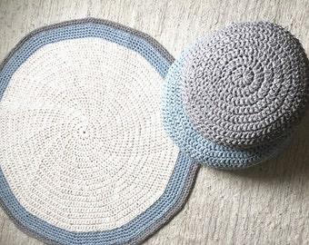 Attractive Crochet Rug Round Baby Play Mat Round Rug Baby Playmat Nursery Rug