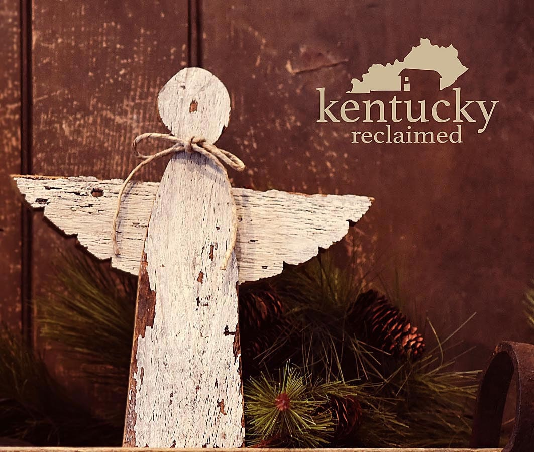 rustic angel christmas tree topper angel tree by kentuckyreclaimed. Black Bedroom Furniture Sets. Home Design Ideas