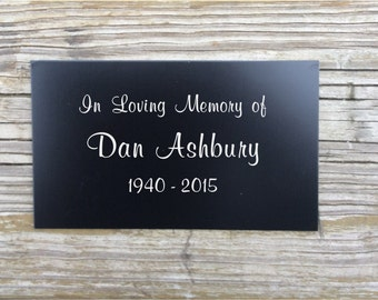 Engraved metal plaque, memorial plaque, metal plaques, name plates, name tag, memorial tree, name marker, Garden Markers, Metal tags, Plant