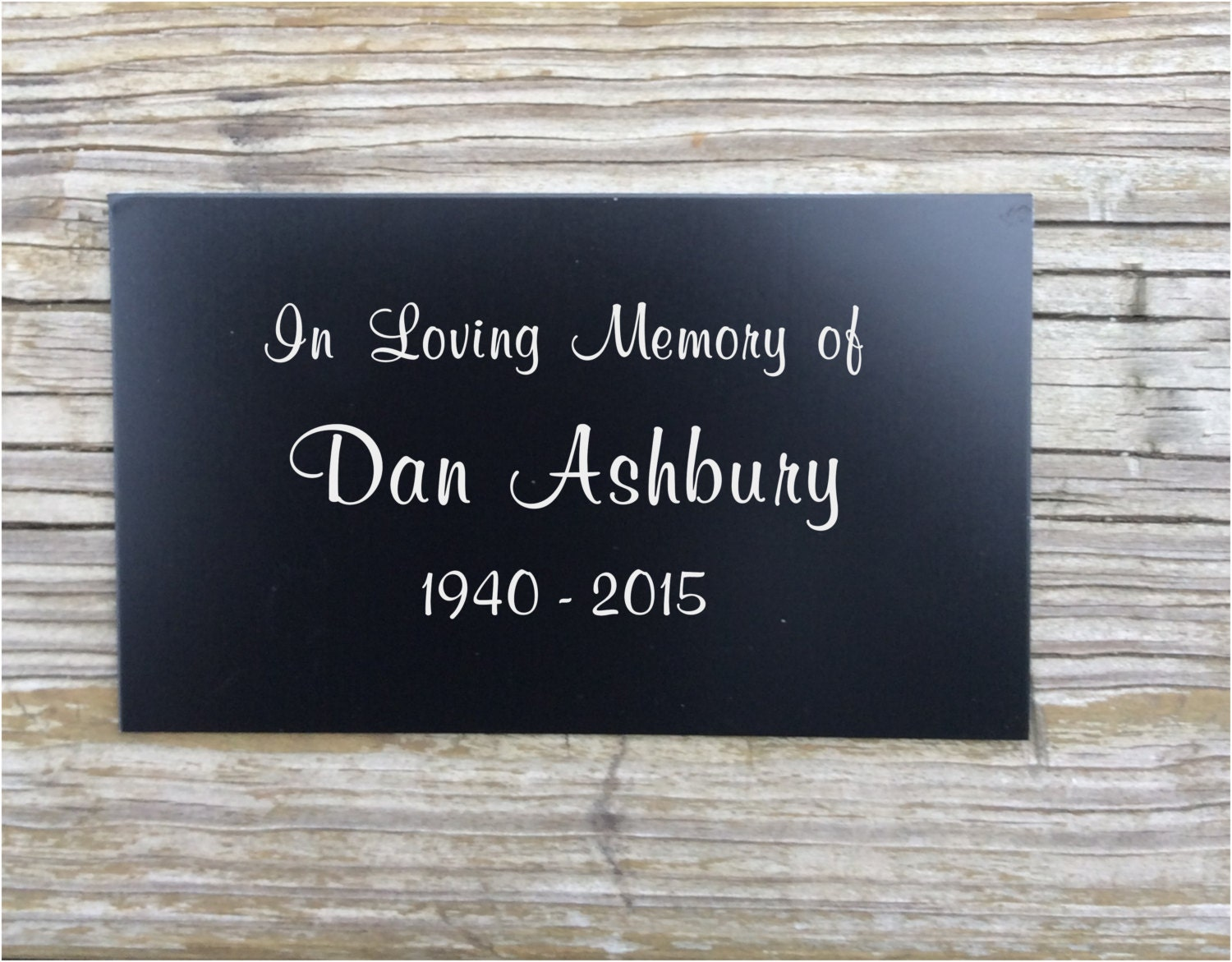 memorial memorial plaques memorial tree marker personalized memorial metal plaque name. Black Bedroom Furniture Sets. Home Design Ideas