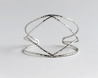 Geo Diamond Cuff