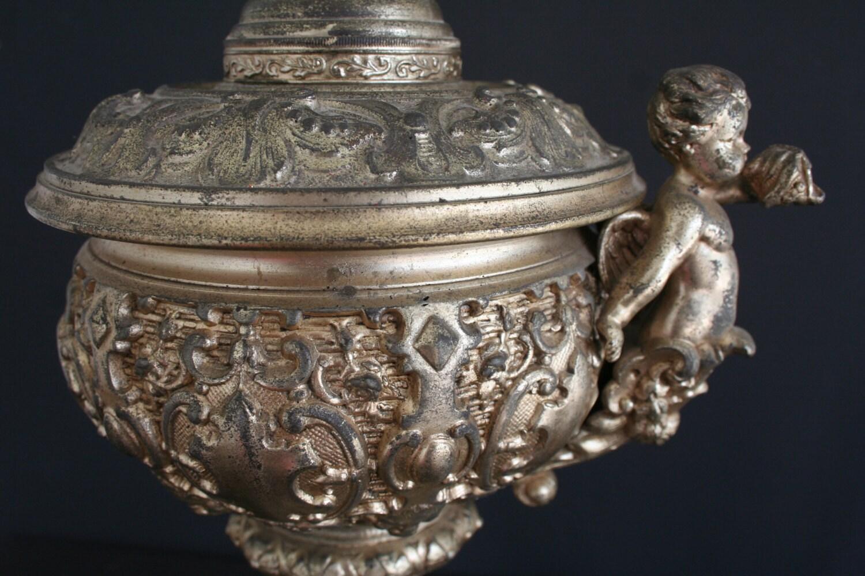 Cherub Cast Metal Table Lamp Ornate Angel Lamp By