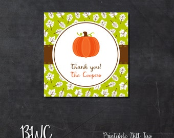 Fall Printable Gift Tags Labels Thanksgiving Favor Stickers Digital File