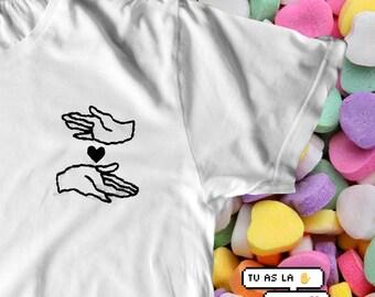 T8KE MY HEART (embroidered t-shirt)
