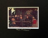 Polaroid Transfer Old Friends France 5 x 7 Matted Photograph Ready to Frame OOAK